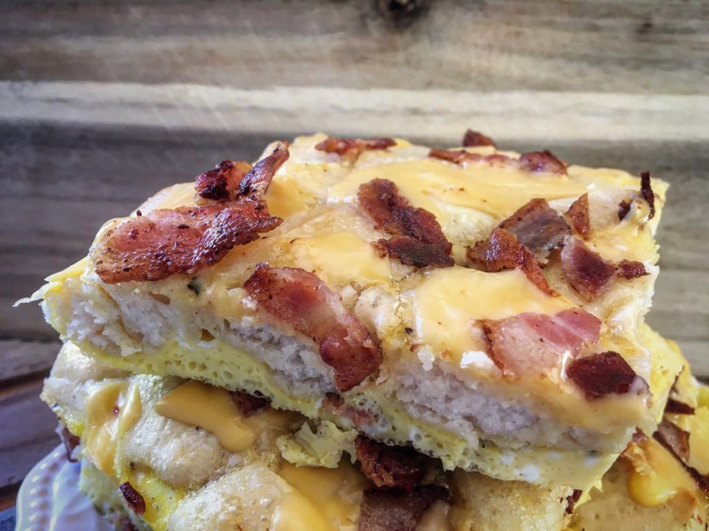 Bacon, Egg, and Cheese Biscuit Bake