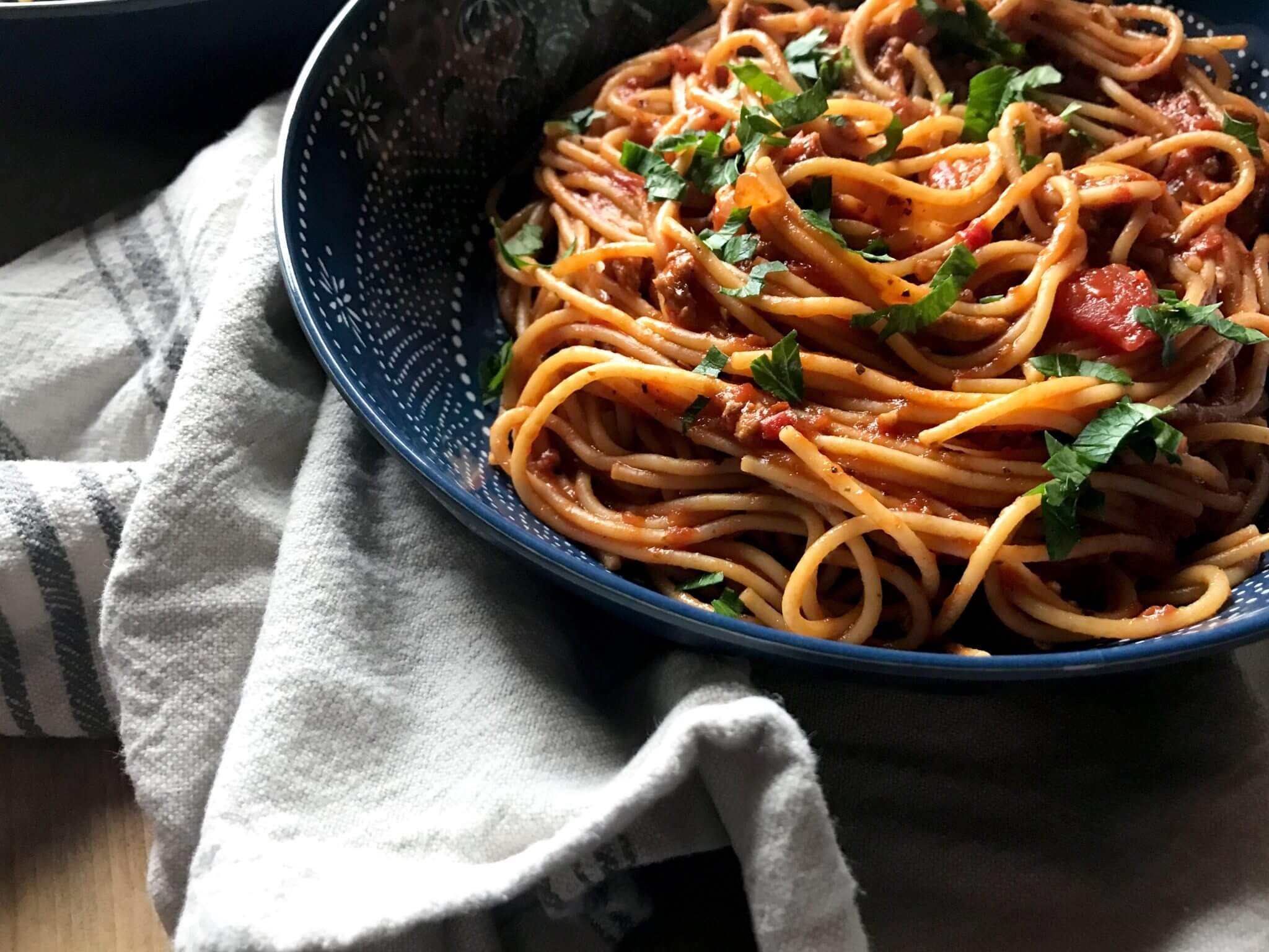 Weeknight One Pot Spaghetti Dinner
