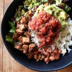 Chicken Burrito Bowls Meal Prep Weight Watchers Friendly