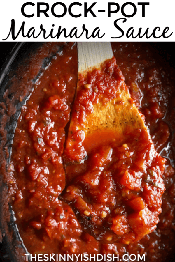 After you make your own homemade marinara you'll never go back to jarred again!  My easy Crock-Pot Marinara Sauce is a healthy and simple sauce to add to your Italian inspired dinners!  Families all around will be thrilled with the meals you can make from this delicious marinara!  #crockpot #marinarasauce #ww