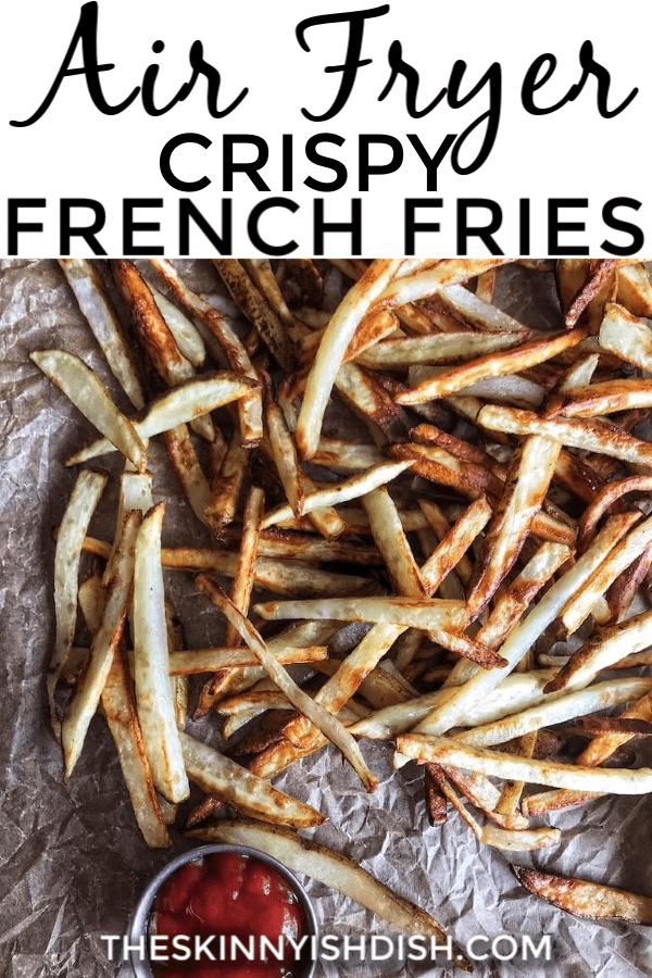 Air Fryer Crispy French Fries are soft on the inside, crispy on the outside, insanely easy, and most importantly, delicious! You can feel much better having a side of french fries when you make this recipe! Almost too good to be true. #airfryer #frenchfries #ww