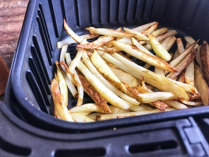Air Fryer Crispy French Fries- Half way through cooking